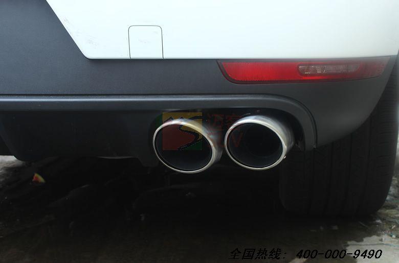 时捷macan四出排气管 圆形 改装 河南郑州汽车改装,郑州汽车装高清图片