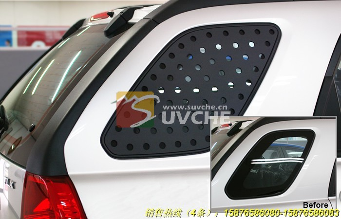 起亚狮跑三角玻璃装饰件产品由迈客汽车用品有限公司提供,高清图片